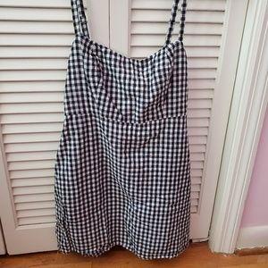 Brandy Melville black checkered gingham dress